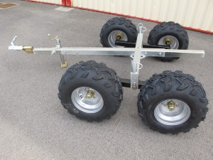 Remorque chassis agricole nu 4 roues (kit bogie)