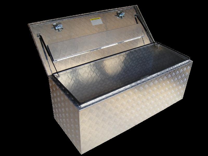 Coffre en aluminium renforc 1750x600x600 for Caisse de rangement exterieur