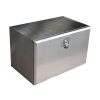 OCCASION - Coffre inox sous chassis 190L Dimensions 800 x 500 x 500 mm (réf. neuf 50050)