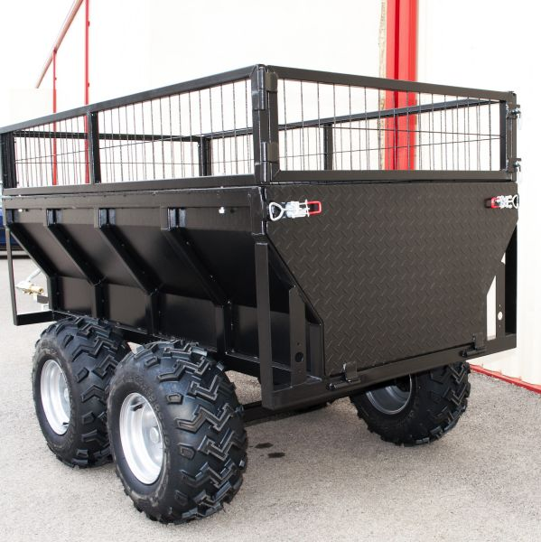 remorque agricole double essieux avec t te d 39 attelage. Black Bedroom Furniture Sets. Home Design Ideas