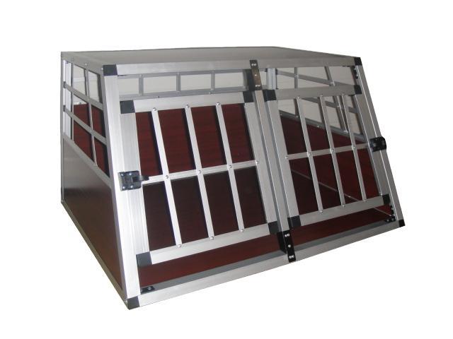 cage bois de transport pour 2 chiens. Black Bedroom Furniture Sets. Home Design Ideas