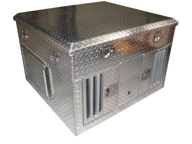 cage aluminium de transport pour 2 chiens 99x93x65 cm. Black Bedroom Furniture Sets. Home Design Ideas