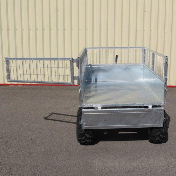 Remorque benne agricole 1400x1050xh600 ptc 0 90t 4 roues 18x950x8 - Remorque porte outil agricole ...