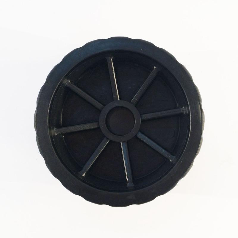 Galet diam tre 120 mm largeur 75 mm al sage 23 mm coloris noir for Galet noir exterieur